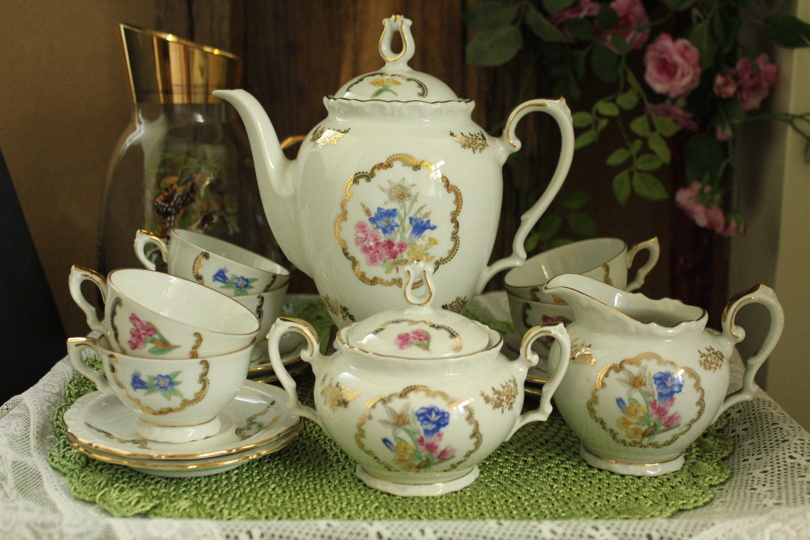 Wit 9 delig servies